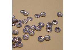 3mm Silver Metal Bead Cap