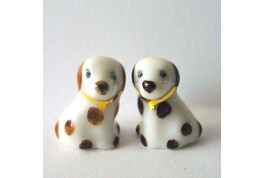 24th Scale Pair Of China Fire Side Dogs