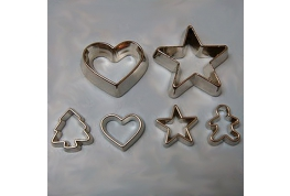 Set Of Metal Cookie Cutters