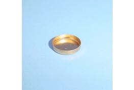 7mm Brass Round Straight Wall Setting.