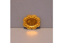 Small Fancy Oval Brass Setting