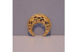 Brass Filigree Crescent