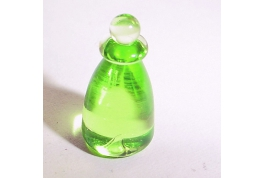 Lime Green Czech Crystal Bottle