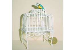 White Wire Parrot Cage