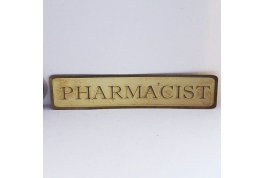 Brass Pharmacist Sign