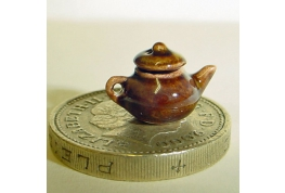 Tiny 1:24 China Brown Tea Pot