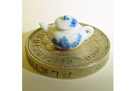 Tiny 1:24 China Tea Pot Blue Floral