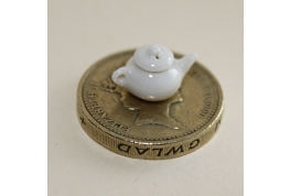 Tiny 1:24 China Tea Pot White
