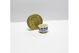 1:24 Fancy Blue And White China Planter Pot