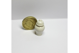 24th Scale Floor Standing White China Urn.