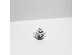1:24 China Sugar Bowl Blue And White