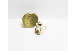 24th Scale China Coffee Pot Floral Pattern