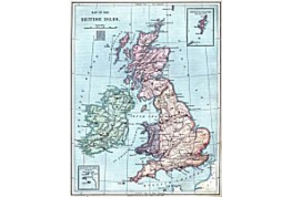 1:24 Scale Map Of Great Britain And Ireland
