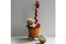 1:12 Shopping Trolley With Teddy Bear
