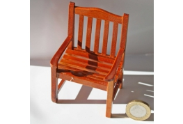 1:12 Scale Walnut Effect Garden Chair
