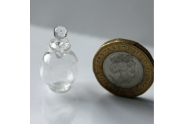 1:12 Scale Clear Glass Dimpled Chemist Jar