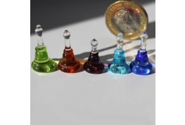 Crystal Bell Shaped Display Bottle - Set of 5