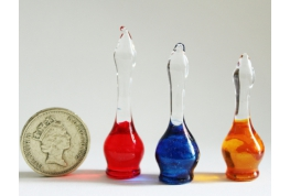 1:12 Scale Glass Chemist Display Bottles