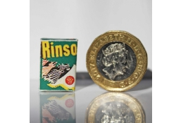 1:12 Scale Rinso Soap Powder Box