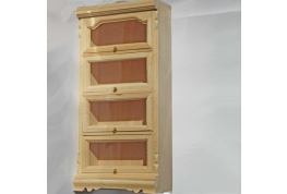 1:12 Bare Wood Haberdashery Unit