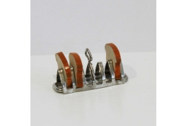 1:12 Scale Metal Toast Rack