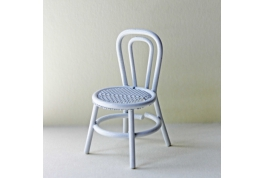 1:24 White Wire Chair