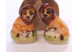 Pair of China Lion Bookends / Ornaments