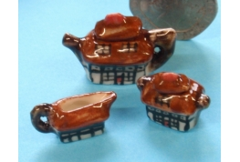 "China Art Deco ""Cottage""  Tea Set"