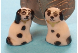 1:24 Scale Pair of China Staffordshire Dogs