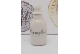Camphor Flask in White China