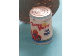 Fuzzy Wuzzy Cat Food Tin