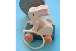 Wooden Rabbit Pull-Along Toy