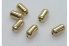 Gold Plated Bullet Bead.