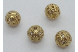Round Filigree Beads