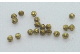 25 x 2mm Fluted Brass Beads