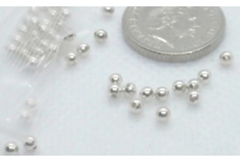 2mm Round Plain Bright Silver Beads