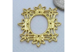 Filigree Gold Frame Shape