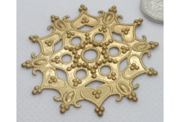 Large Ornate Antique Gold Disc