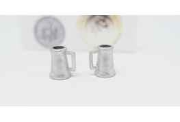 24th Beer tankard set of 2