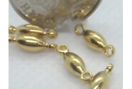 25 x Gold Barrel Beads with Rings
