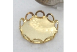 Round Gold Lace Edged Setting - 12mm dia