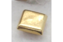 Tiny Fine Gold Square Tin