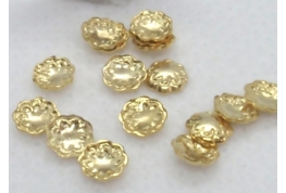 5 x Gold No Hole Bead Cap - 4mm