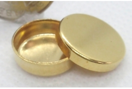 Round Gold Plated Tin - 13mm dia