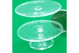Double Tier Glass Cake Stand