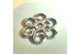 Small Round Antique Silver Filigree