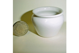 1:12 Scale White China Plant Pot Large Size