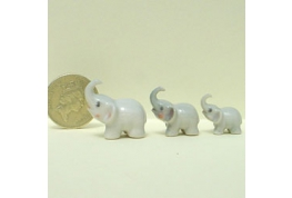 Set Of 3 China Elephants