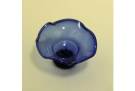 Blue Glass Pedestal Bowl