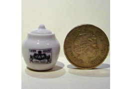 White China Jam Pot